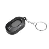 Mini Key Ring LCD Digital Chromatic Tuner with Mic Black