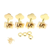 Gold Machine Heads 4R Electric Bass Guitar Tuners Tuning Pegs Keys Set