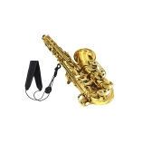 Adjustable Saxophone Sax Neck Strap Leather Nylon Padded with Hook Clasp
