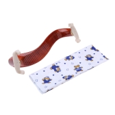 Violin Shoulder Rest Maple Wood Fit 3/4 4/4 Fiddle Violin with Cleaning Cloth
