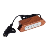 "Flanger FP-02 Magnetic Soundhole Pickup Transducer Wooden for 39""/40""/41""/42"" Acoustic Guitar"