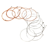 Alice A2012 12-String Guitar String 12pcs Stainless Steel Core Coated Copper Alloy Wound for Acoustic Folk Guitar