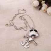 Personalized Vintage Retro Punk Gothic Skeleton Skull Pendant Chain Collar Necklace Jewelry Accessory