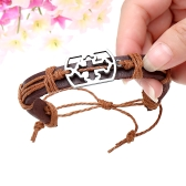 Alloy Leather Bracelet Men Women Fashion Bangle