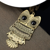 Fashion Cute Owl Necklace with Big Eye Classic Pendant Vintage Jewelry for Women