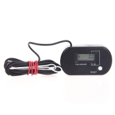 Digital Hour/Tach Meter Gauge Tachometer Resettable LCD 99999h / 60000RPM Black