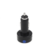 2in1 12V / 24V Digital Voltmeter 5V 2.1A Car Cigarette Lighter Usb Charger for iPhone Samsung Blue LED Display