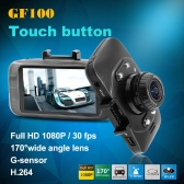 "Mini 2.7"" LCD Car DVR Camera GF100 Touch Button 1080P 170 Wide Angle 4X Zoom G-sensor Night Vision"