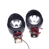 2Pcs Universal Motorcycle Motorbike LED Front Headlight Head Lamp Spot Light