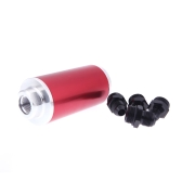 Universal Fuel Filter with 2pcs AN6/AN8/AN10 Adaptor Fittings Total 6pcs Black Fittings Red
