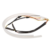 2*85cm LED Car Daytime Running Light Strip Tube Style DRL Driving Lamp White+Yellow Light 12V