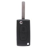 Flip Remote Key Case Shell for CITROEN C2 C3 C4 C5 C6 C8 2 Buttons Replacement