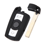 3 Button Smart Remote Key Shell Key Remote Fob Case for BMW 1 3 5 6 7 E90 E93 E92 M3 M5 X3 X5