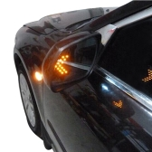 One Pair of  Amber Arrow Panel 14SMD LED Rear View Mirror Car Side Mirror Turn Signal Indicator Light