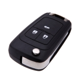 Remote Flip Folding Key Shell Case Key Cover for Chevrolet Replacement 3 Buttons