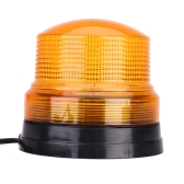 TIROL High Power LED Car Vehicle Amber Single Flash Warning Light with Magnetic Mount Beacon Strobe Emergency Alarm Lamp