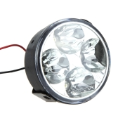 Round LED Daytime Running Light 4 LED White