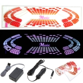 Car Sticker Music Rhythm LED Flash Light Lamp Voice-activated Equalizer