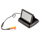 """4.3"""" Foldable TFT Color LCD Car Reverse Rearview Security Monitor for Camera DVD VCR"""