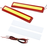 2Pcs 5W Super Bright LED Car Fog DRL Daytime Running Lights Waterproof Ultra-thin Red