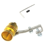 Turbo Sound Whistle Exhaust Pipe Tailpipe Blow-off Valve Aluminum Size M Golden