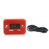 Digital Hour Meter Gauge LCD for Gasoline Engine Racing Motorcycle ATV Mower Snowmobile 0.1/99999Hrs Red