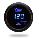 Digital Oil Pressure Meter Gauge with Sensor for Auto Car 52mm 2in LCD 0~120PSI Warning Light Black