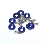 8pcs Bumper Washer & Bolts Kit Set Aluminum Alloy Blue