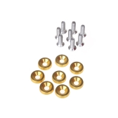 8pcs Bumper Washer & Bolts Kit Set Aluminum Alloy Golden