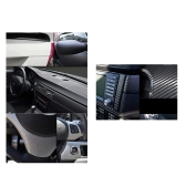150*30CM 3D Carbon Fiber Film Vinyl Sticker Car Body / Interior Decoration Grey
