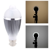 B22 8W LED Infrared PIR Human Motion & Light Sensor Auto Detection Bulb Lamp 85-265V