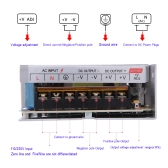 AC 110V/220V to DC 12V 10A 120W Voltage Transformer Switch Power Supply for Led Strip