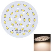15W Round 5730 SMD 30 LEDs Super Bright LED Chip Light Lamp Bulb  DC 45-51V