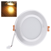 7W Round LED Recessed Ceiling Panel Light Down Lamp Ultra Thin Bright for Living Room Bathroom Bedroom Kitchen AC100-240V