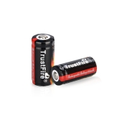 TrustFire 2PCS 16340 880mAh 3.7V Rechargeable Lithium Battery with PCB Protected Board
