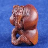 boxwood netsuke monkey