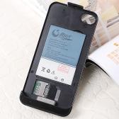 デュアル SIM のバックアップ バッテリ ケース カバー iPhone の 4 G