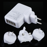 4 Port USB EU/AU/US/UK Travel Charger