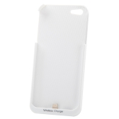 Qi Standard Wireless Charger Receiver Jacket Backup Case for iPhone 5 White