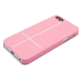 Magnetic Adsorption Mobile Shell Protective Cover Multifunctional Folding Holder Back Case Headphone Bobbin Winder for iPhone 5 Pink