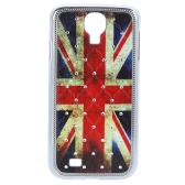 UK Flag Pattern Design Hard Case Back Cover with Rhinestone for Samsung Galaxy S4 i9500/i9505