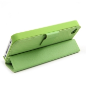 Magnetic Adsorption Folio Smart Flip Case Skin Stand Cover for iPhone 4 4S Multifunctional Holder Headphone Bobbin Winder Green