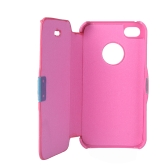 Magnetic Leather Flip Hard Full Case Cover for iPhone 4G 4S Rose