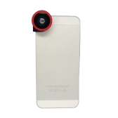 3 in 1 Phone Photo Camera Lens 180° Fisheye Macro 0.67X Wide Angle for iPhone 5 5S Red