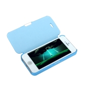 Magnetic Leather Flip Hard Full Case Cover for iPhone 5 5S Blue