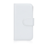 Fashion Wallet Case Flip Leather Stand Cover with Card Holder for iPhone 5/5s White
