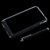 Colorful TPU+PC Bumper Frame Case Cover for Samsung N9000 Galaxy Note3+Stylus Pen Black