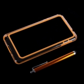 Colorful TPU+PC Bumper Frame Case Cover for Samsung N9000 Galaxy Note3+Stylus Pen Orange