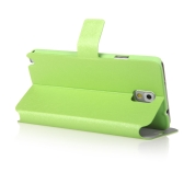 Fashion Wallet Case Flip Leather Stand Cover with Card Holder for Samsung N9000 Galaxy Note3 Green