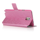 Fashion Wallet Case Flip Leather Stand Cover with Card Holder for Samsung N9000 Galaxy Note3 Rose
